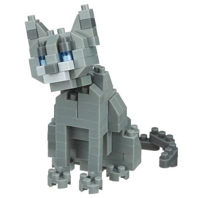 Nanoblock Bleu Russe Cat Breed - 120 pièces - Difficulté 2/5