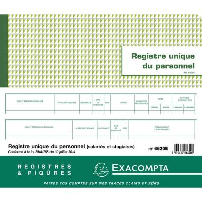 Registre unique du personnel (salariés et stagiaires)  56 pages 6620E