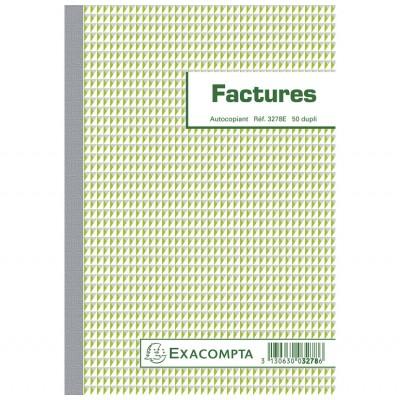 Factures 14,8 x 21 cm format A5 - Autocopiants 50 feuillets dupli 3278E