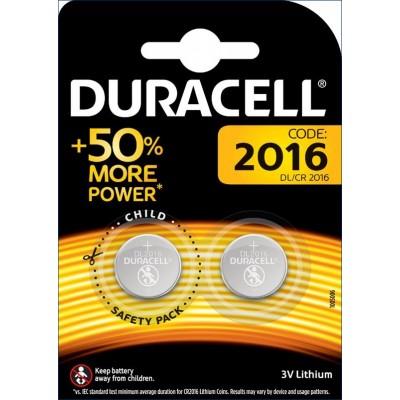 Pile bouton 2016 3V Pack de 2 Duracell