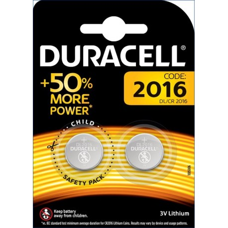 Pile bouton 2016 3V Duracell