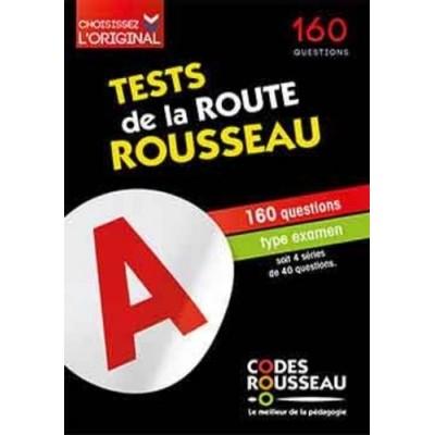 Test de la route Rousseau - 160 questions type examen soit 4 séries de 40 questions - Codes Rousseau