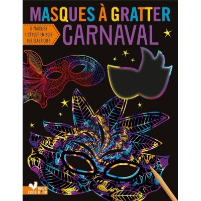 Masques à gratter carnaval - ISeek Ltd