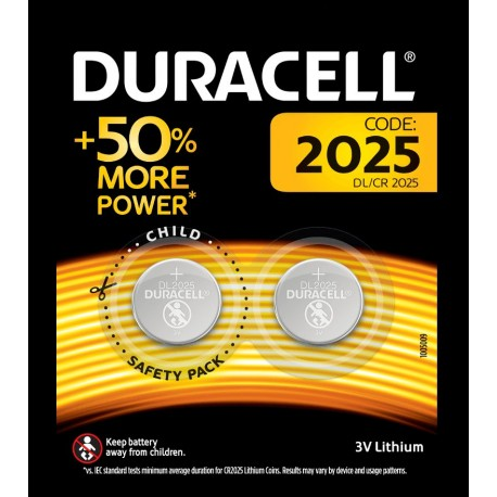 Pile bouton 2025 3V Duracell