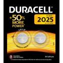 Pile bouton 2025 (x2) 3V Duracell