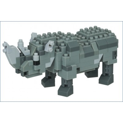Nanoblock Rhinocéros - Vie Sauvage - 190 pièces - Difficulté 3/5
