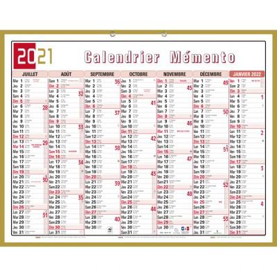 Calendrier 55 x 43 cm Banque tricolore Mémento
