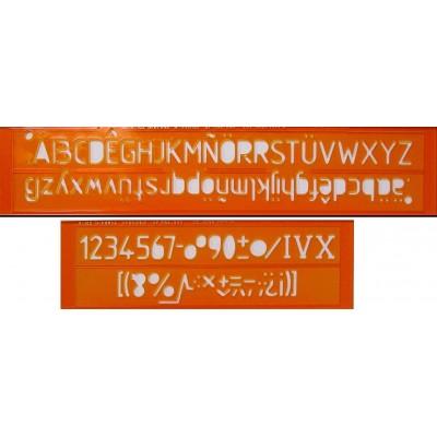 Trace-lettres Minerva N°20 Caractères droits E04-505