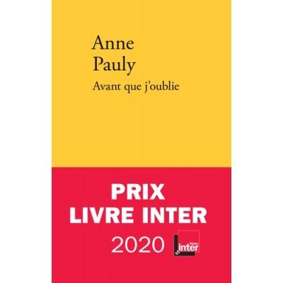 Avant que j'oublie - Anne Pauly