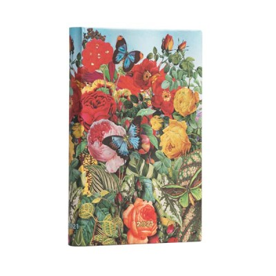 Agenda 2021 Paperblanks JARDIN AUX PAPILLONS Jan/Déc Horizontal Format Mini 9,5 x 14 cm
