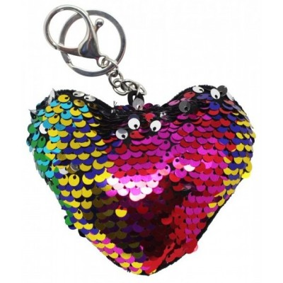 Porte-clé Coeur à paillettes réversibles