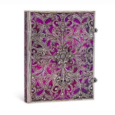 Carnet Paperblanks AUBERGINE- Ligné Avec Fermoir Format 18 x 23 cm