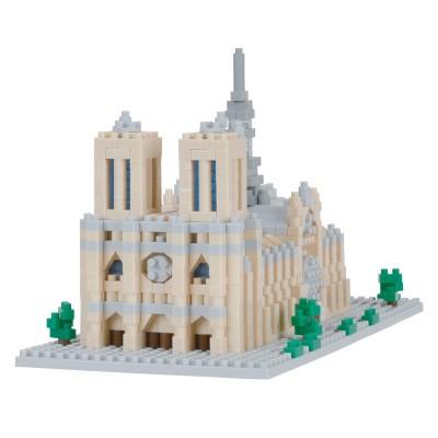 Nanoblock Cathédrale Notre Dame de Paris - 1040 pièces - Difficulté 4/5