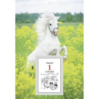 Bloc éphéméride comique sur plaque 18 x 26 cm - Cheval