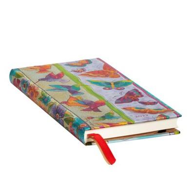 Agenda 2022 Paperblanks COLIBRIS ET PAPILLONS  Jan/Déc Horizontal Format Slim 9,5 x 18 cm
