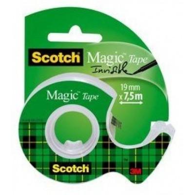 Scotch ruban adhésif Invisible avec Dévidoir