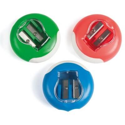 Taille-crayon complet 2 usages avec réservoir et gomme sur la bordure