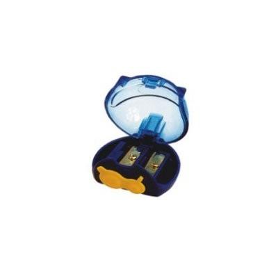 Taille-crayon compact 2 usages avec réservoir transparent