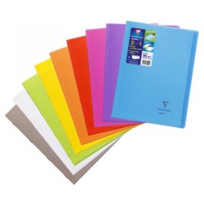 Cahier Koverbook 21x29,7 A4 96 pages grands carreaux Couverture transparente