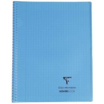 Cahier Koverbook 24x32 160 pages grands carreaux Couverture transparente